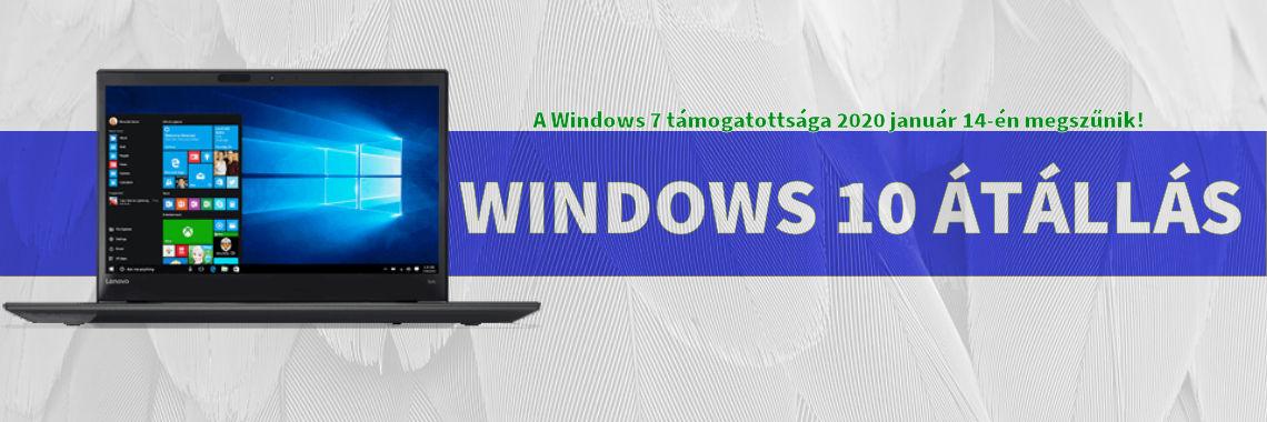 Windows 10 átállás